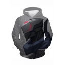 League of Legends Fashion 3D Game Figure Print Pullover Grey Hoodie