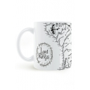 The Lord Of Rings Map Pattern White Porcelain Mug Cup 8.2*9.6cm