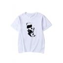 Beverly Hills 90210 Luke Perry Figure Printed Short Sleeve Basic Casual T-Shirt