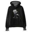 Hollow Knight Popular Game Figure Print Loose Fit Hoodie