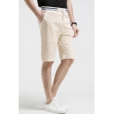 New Stylish Simple Plain Drawstring-Waist Summer Casual Chino Shorts