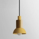 Flared/Dome Pendant Light Minimalist Colorful Metallic 1 Bulb Mini Suspended Light for Coffee Shop