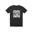 Straight Outta Compton Hip Hop Loose Casual Short Sleeve T-Shirt