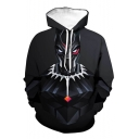 Black Panther New Stylish Cool 3D Figure Pattern Sport Casual Black Hoodie