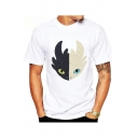 How to Train Your Dragon Comic Printed Short Sleeve White T-Shirt