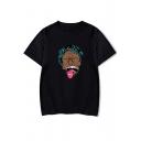 American Rapper Funny Figure Printed Short Sleeve Round Neck Unisex Souvenir T-Shirt