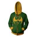 Iron Fist Cool 3D Printed Cosplay Costume Long Sleeve Zip Up Casual Hoodie