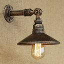 Vintage 1-Light Aged Brass Wall Sconces Industrial Iron Lighting Fixture