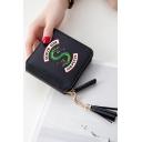 Snake Short Zipper Card Wallet Cool Girl Purse 11*10*2.5cm