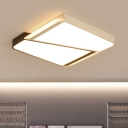 Modern Fashion Squared Ceiling Light with Acrylic Lampshade Energy Saving LED Flush Mount