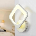 Nordic Mini Wall Mount Light Living Room Bedside Acrylic LED Wall Light Sconce in White