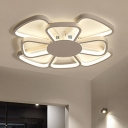 Acrylic Bloom LED Flush Mount Modern Fashion Children Bedroom Ceiling Fixture in Warm/White