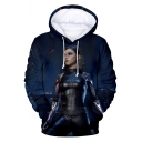 Cool 3D Figure Printed Unisex Sport Relaxed Pullover Hoodie