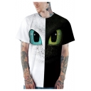 Cool 3D Eyes Pattern Summer Short Sleeve Loose Casual T-Shirt