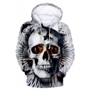 Cool 3D Skull Printed Long Sleeve Casual Sport Pullover Hoodie