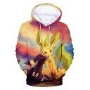 Pokemon Cartoon Cute Comic Character 3D Print Loose Relaxed Pullover Hoodie