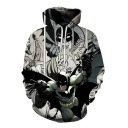 Cool 3D Comic Figure Long Sleeve Pullover Casual Hoodie