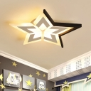 Five-pointed Star LED Ceiling Lamp Modernism Amusement Park Flushmount with Acrylic Shade