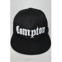 Simple Letter COMPTON Embroidered Snapback Street Hip Hop Baseball Cap