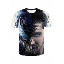 Venom Series 3D Cool Printed Short Sleeve Round Neck Casual T-Shirt