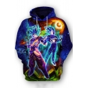 Popular Comic Figure Printed Long Sleeve Pullover Sport Hoodie