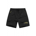 Fashion Simple Letter SPORT Logo Printed Quick-Dry Breathable Beach Relaxed Shorts