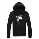 New Stylish Unique Spider Printed Men's Long Sleeve Fitted Casual Hoodie