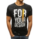 Cool Splash Ink Letter FOR YOUR DESIGN Mens Fitted Sport T-Shirt