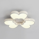 Petal Living Room Flush Light Acrylic 3/4/6/9 Lights Modern Flush Mount Light in White