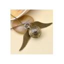 Harry Potter Vintage Gold Wing Embellished Necklace for Gift