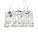 Modern Ring/Square Chandelier 4/5/6 Lights Metal Hanging Light in Chrome for Living Room