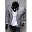Men's Classic Plain Long Sleeve Double Button Front Casual Suit Blazer