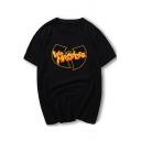 Hip Hop Group Album Letter WU MASSACRE Graphic Print Short Sleeve Round Neck Cotton Loose T-Shirt