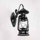 Kitchen Kerosene Wall Light Single Light Metal Industrial Black/Bronze Wall Light Fixture