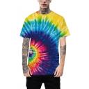 Unique Aesthetic 3D Tie-Dye Whirlpool Print Sport Loose Unisex T-Shirt