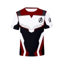 Short Sleeve Round Neck Cosplay Red T-Shirt