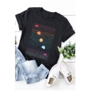 New Stylish Sun Printed Summer Comfortable Cotton Short Sleeve T-Shirt