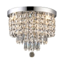Drum Ceiling Light Bedroom 1 Light Contemporary Flush Chandelier in Chrome