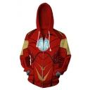 Cosplay Costume Unisex Casual Loose Red Zip Up Hoodie