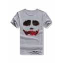 Suicide Squad Joker Face Printed Street Fashion Short Sleeve T-Shirt