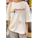 Hip Hop Style Cool Letter Graffiti Print Oversized Casual T-Shirt