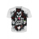 Hard Rock Heavy Metal Kiss Band 3D Print Hip Hop Streetwear White T-Shirt