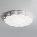 Modern Flower Flush Mount Light Acrylic LED Ceiling Light for Living Room in Warm/White