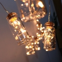 7ft 10 LED Hanging String Lights Pack of 2 Battery/Solar String Lights with Clear Wishing Bottle