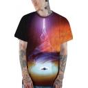 Creative Unique Black Hole Cool 3D Print Unisex Casual Loose T-Shirt