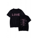 American Rapper Popular Sad Face Letter LOVE Short Sleeve Loose Fit T-Shirt