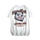 Hip Hop Style Cool Letter GAMBLING Loose Relaxed Short Sleeve T-Shirt