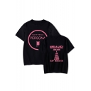 New Stylish Boy Band PERSONA Letter Logo Printed Short Sleeve Loose Fit T-Shirt