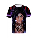 3D Character Printed Round Neck Short Sleeve Unisex T-Shirt