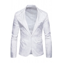 Men's New Trendy Floral Printed Lapel Collar Single Button Fitted Blazer Suit
